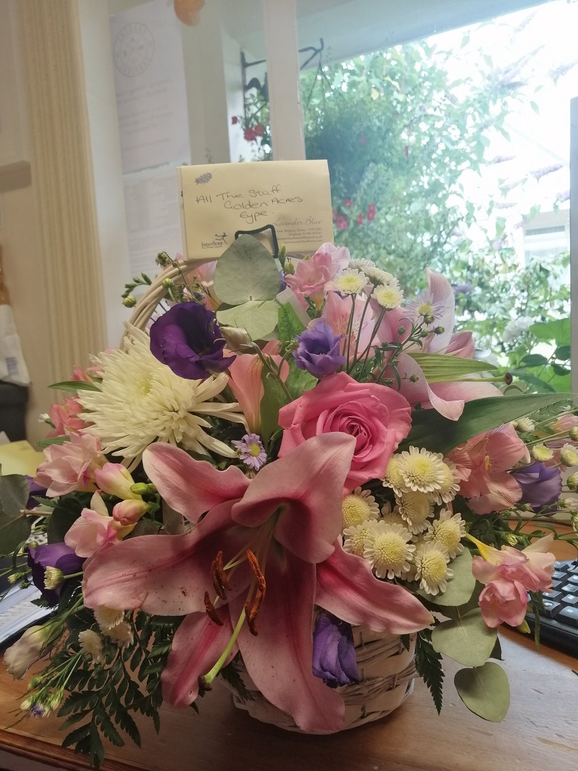 Thank you for the beautiful Flowers!